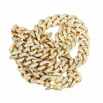 ce6e1ab92c0d5 Fashion Jewelry Gold Mens Cz Diamond Paved Iced Out Miami Cuban Link Chain  - Buy Gold Chain,Iced Out Cuban Link Chain,Miami Cuban Link Chain Product  ...