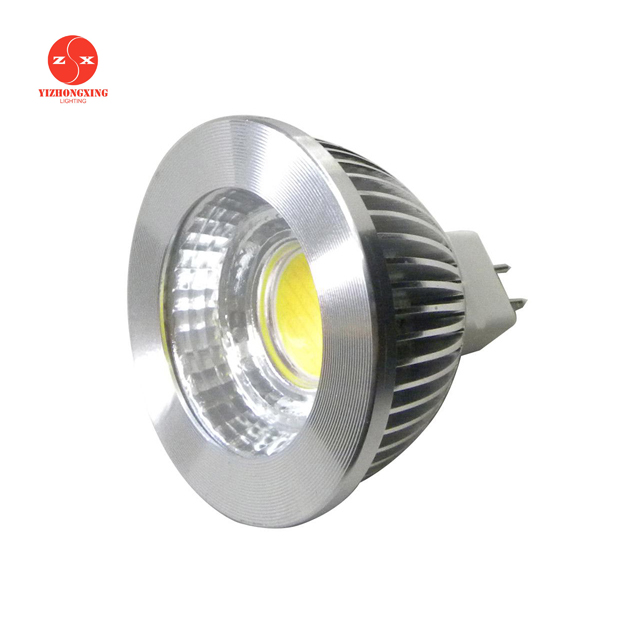 5 W led spot light, mr16 gu5.3 <strong>spotlight</strong>,12v AC DC dimmable cob mr16 led light bulb lamps