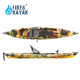 LIKER KAYAK LLDPE one layer 1 Seat Single fishing plastic kayak