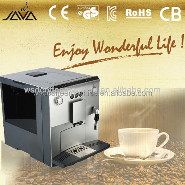 New Design !Java Fully Auto Coffee Machine for Coffee Beans, Coffee Powder (WSD18-060)