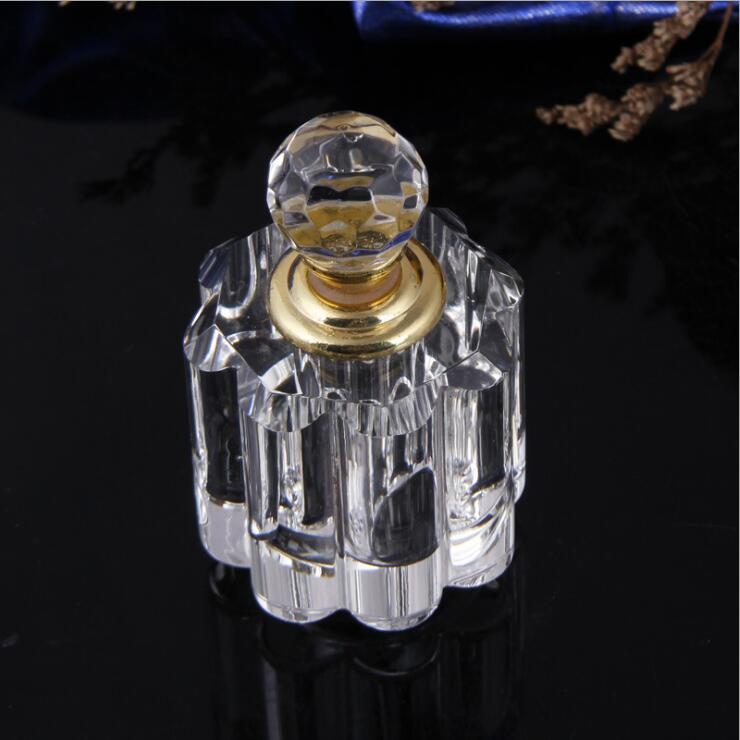 Fancy perfume bottle 3ml roller ball crystal perfume glass bottles white glass perfume bottle
