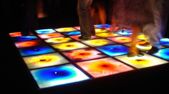2015 hot sale with SGS certificate interactive led dance floor