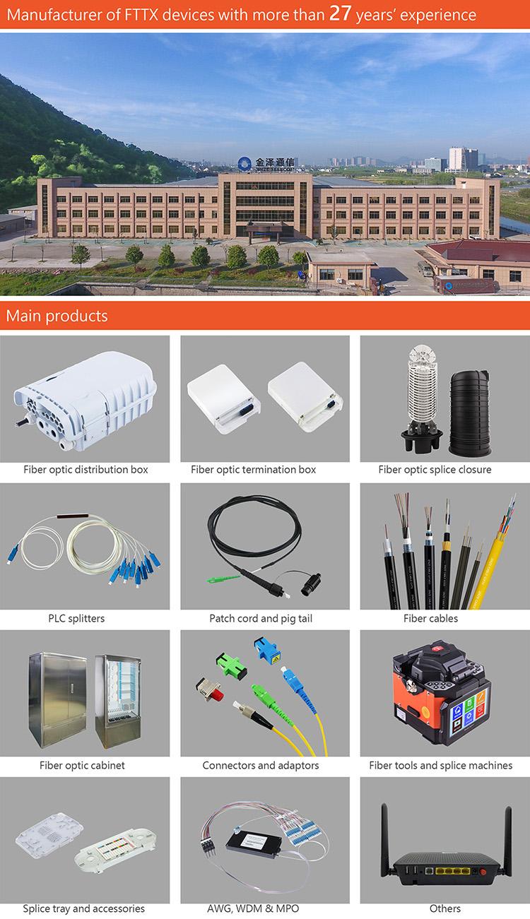 새로운 디자인 야외 IP68 PC ABS 16 코어 sc 커넥터 preconnectorized ftth plc 분배기 광섬유 배포 상자
