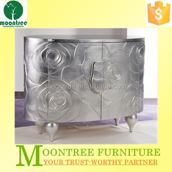 MCB-1127 Top Quality Silver Leaf Console Table