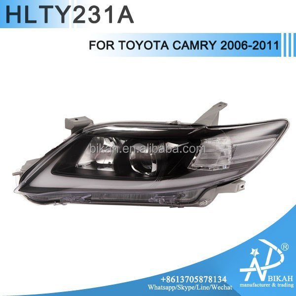 HEADLIGHT FOR TOYOTA CAMRY 2006 2007 2008 2009 2010 2011 LED ANGEL EYES MODIFY