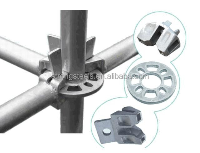 Q235 Steel All Round Ringlock Scaffolding Vertical / Standard