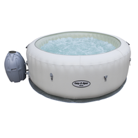 TOP sale Bestway 54148 Lay-Z-Spa Paris Air Jet portable massage spa with LED Lights For 4-6 Person