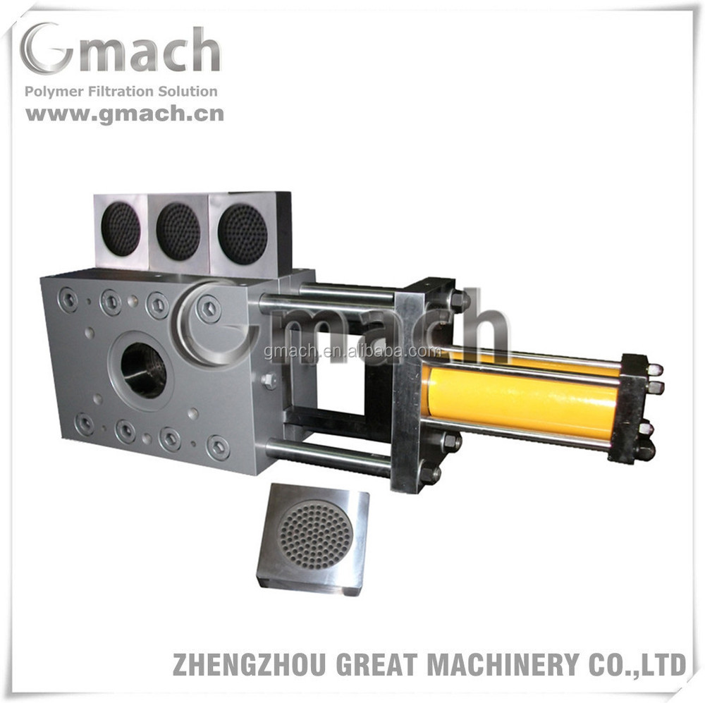Plate type continuous screen changer for plastic EPS foaming products extrusion lines