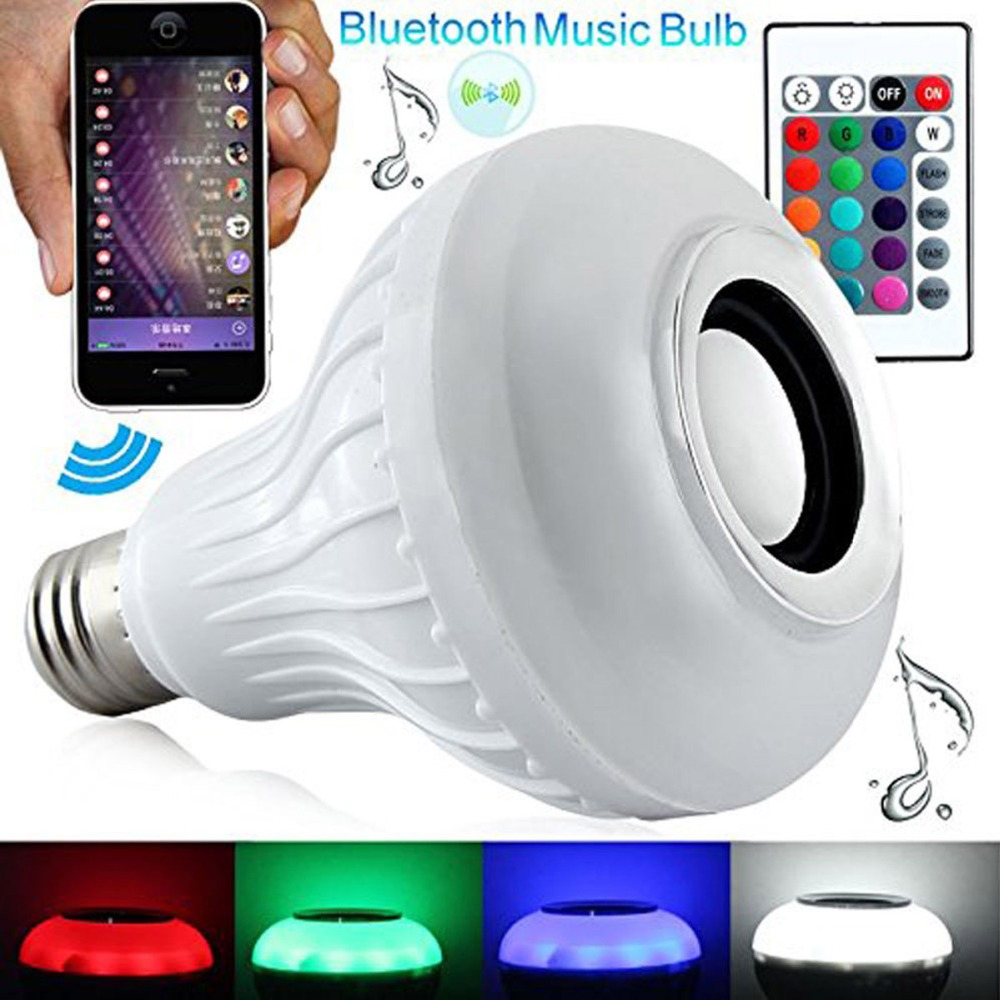 D02 Bluetooth Music Bulb Light Bulb Remote Control Colorful LED Lamp 3.0 <strong>Speaker</strong>