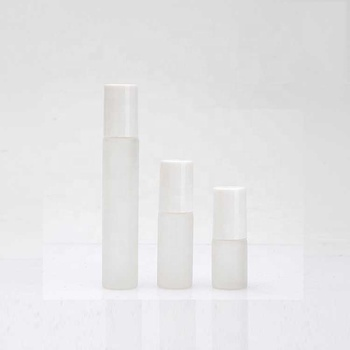 glass roll on bottle essential oil /perfume white frosted glass roll on bottles