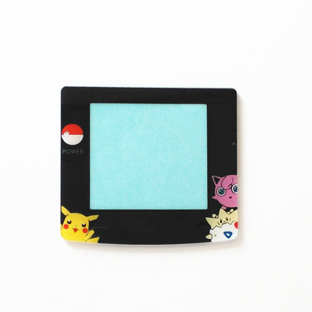 Glass Plastic For Pokemon Jigglypuff Edition Screen Lens Protector For Game Boy Color GBC Protective Lens