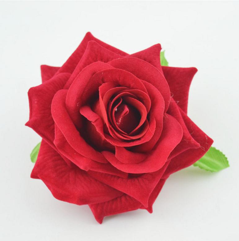 Wedding Big Cream Rose Flower Heads Silk Individual Silk Flower Head