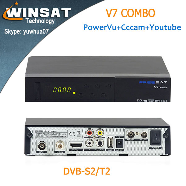 Latest version set top <strong>box</strong> DVB S2/T2 Freesat V7 combo satllite <strong>Tv</strong> receiver Free to air support 3G <strong>dongle</strong>