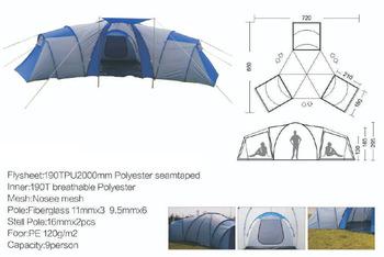 Huge C&ing Living Tent 3 Bedroom Tent With Living Room  sc 1 st  Alibaba & Huge Camping Living Tent 3 Bedroom Tent With Living Room - Buy 3 ...