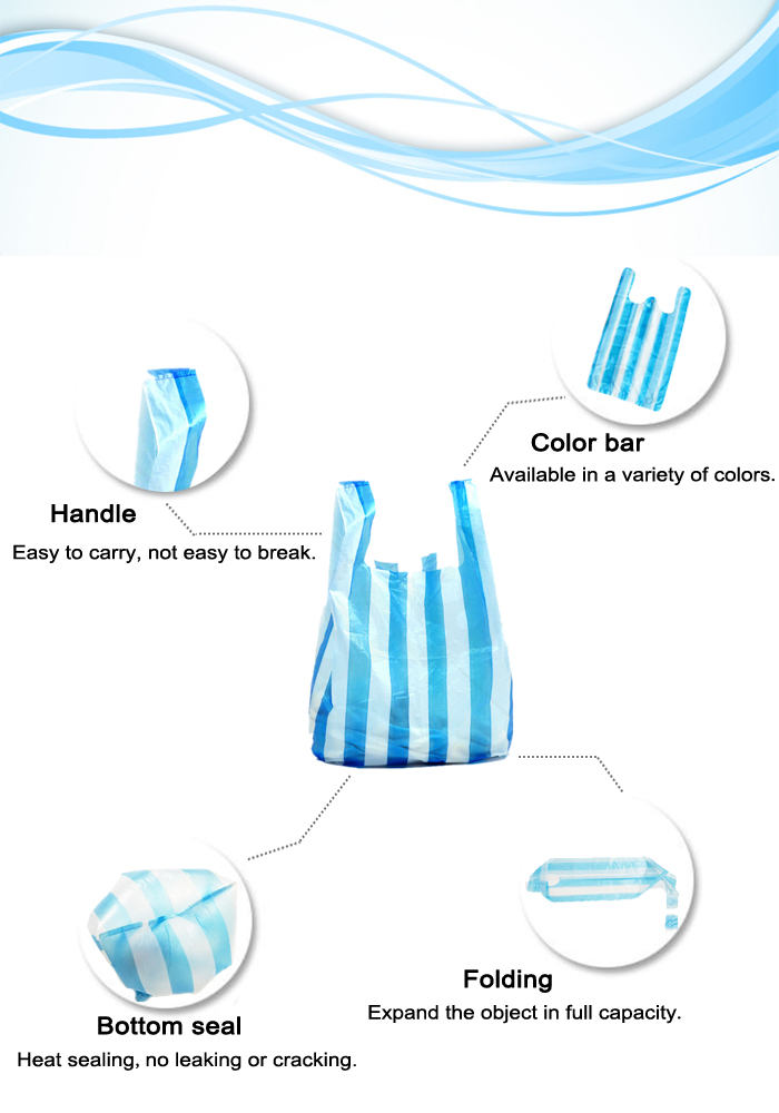 Supply Cheapest Colored Plastic T-shirt Bags for Packaging Use