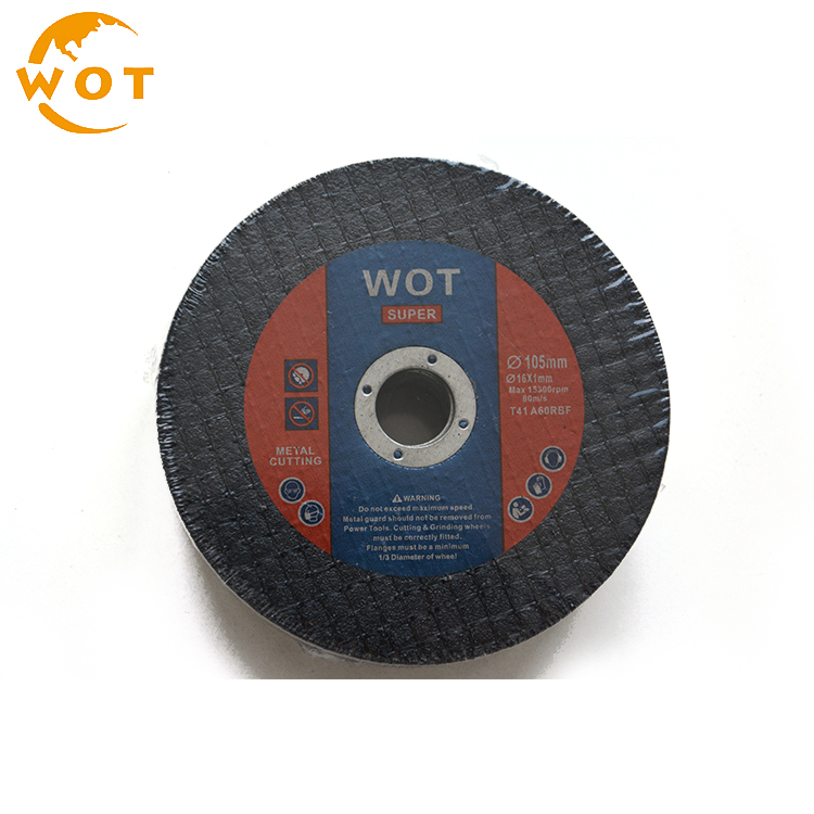 4 Inch 100X1X16Mm Black Color China Abrasive Granite Cutting Disc For Stainless Steel
