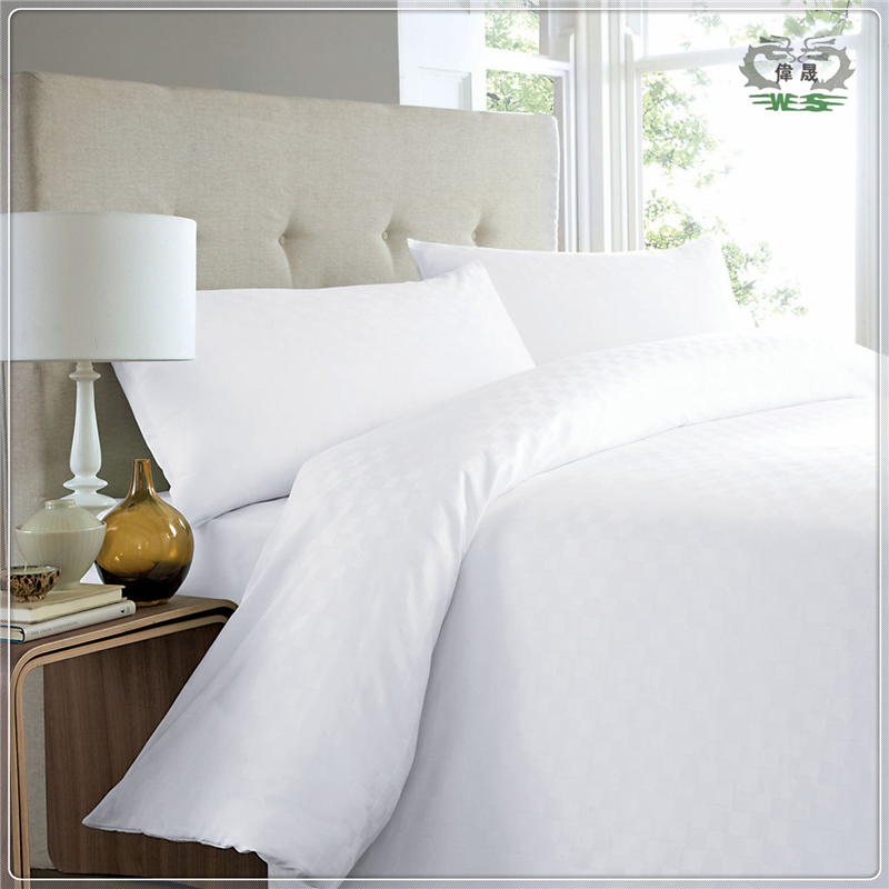 Wholesale 60% Cotton And 40% Polyester Bed Sheet Sets White Bed Linen For Hotel
