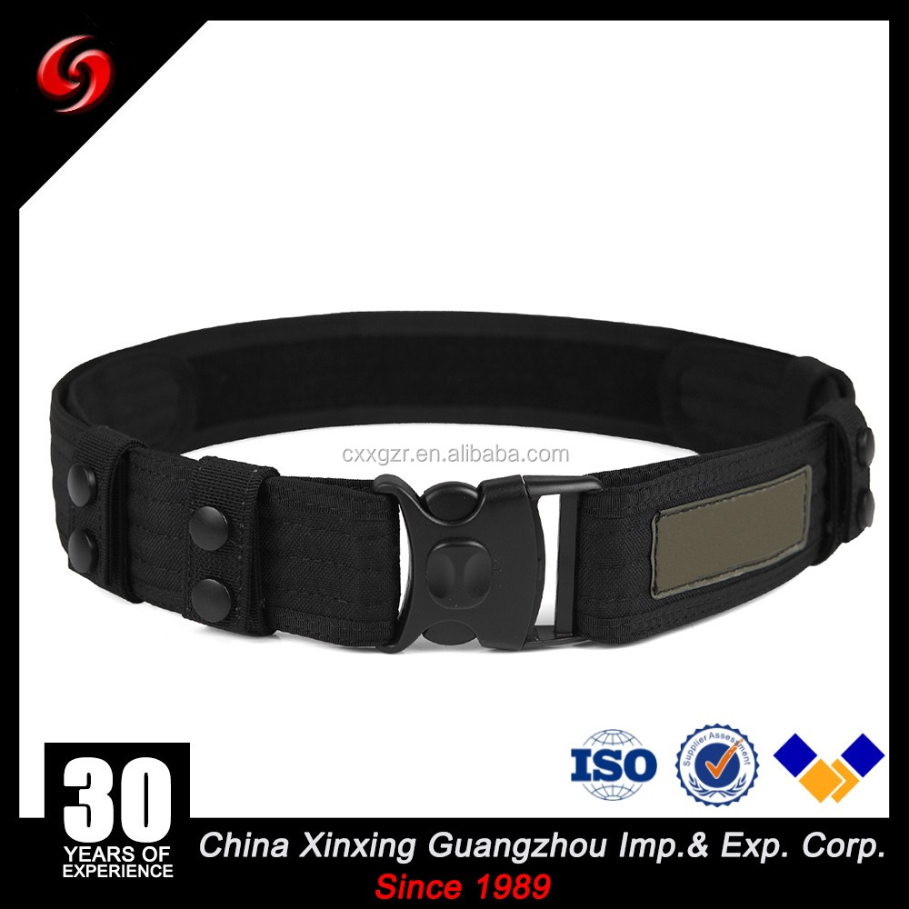 Manufacturer customized Quality Nylon PP RIbbon army belts military tactical belt