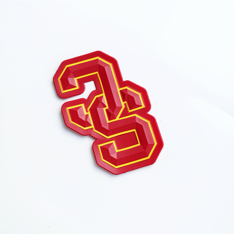 Customized Logo 3D PVC Patch Silicone Heat Transfer Label