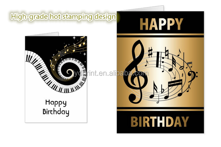 Cheap Voice Recordable Special Paper Birthday Greeting Card