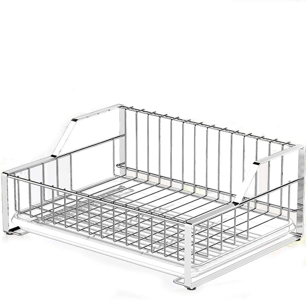 YONGLIANG Kitchen Supplies 304 Stainless Steel Dish Rack Drain Rack Kitchen Racks Dry Dishes Tableware Plate Rack Storage