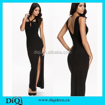 2cd7753963 Preto Vestidos Maxi Vestido Mulheres 2016 Mais Recentes Modelos de Vestido