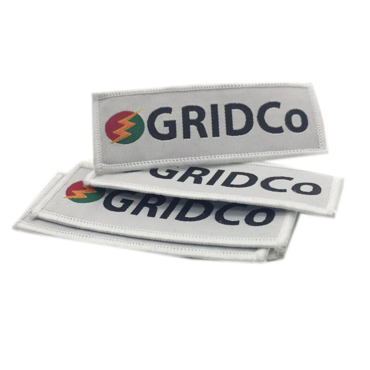 Custom Logo Woven Machine Embroidered Labels For Garment Accessories