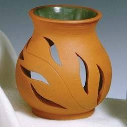 Terra Cotta Leaf Essential Oil Soapstone Diffuser