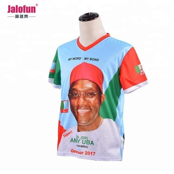 180 Grams Custom Election T Shirt Red And Green Printing