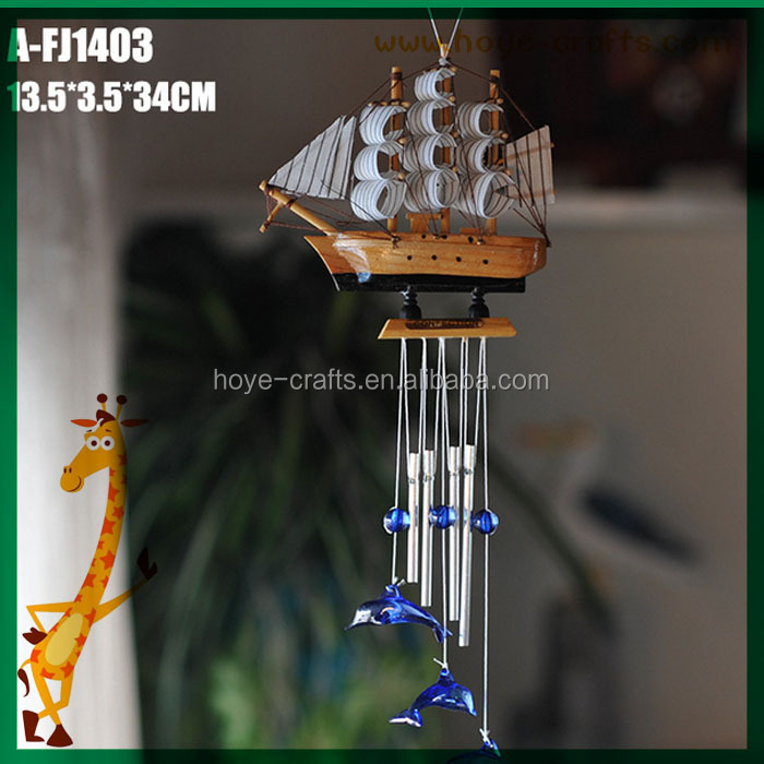 wholesale wooden crafts aluminum and wood corinthian bells wind chimes