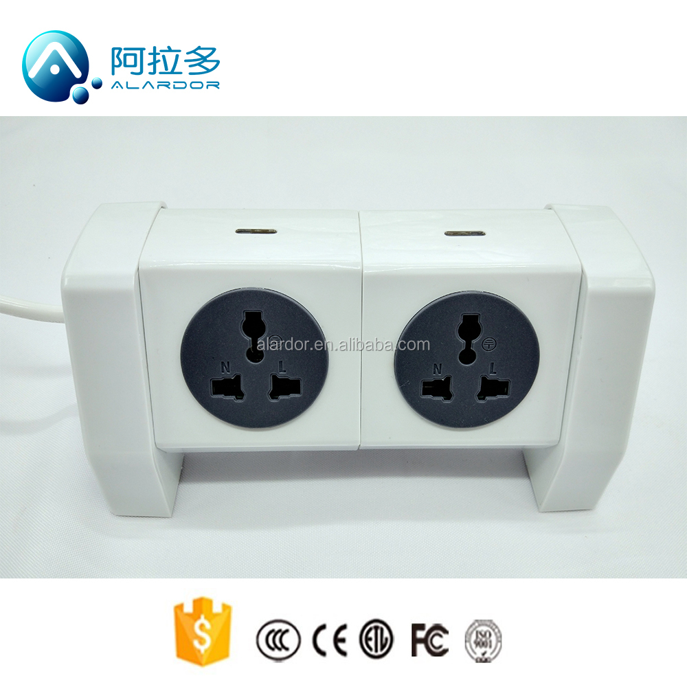 hot selling standard grounding 2 USB ports power strip with surge protector