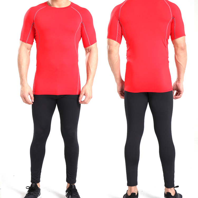 Mens Full Sleeve Compression Running Base Layers Skillful Manufacture Activewear