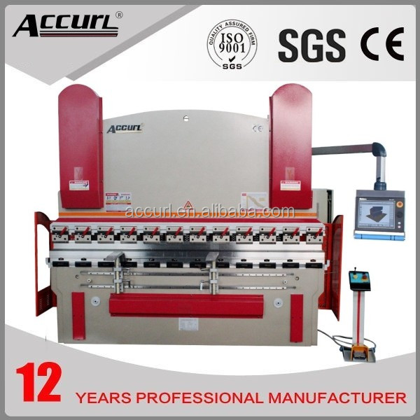ACCURL 2014 New Machinery Hydraulic Press Brake MB8-250T/5000 DELEM DA-66T(Y1+Y2+X+R axis) with CE and NR12