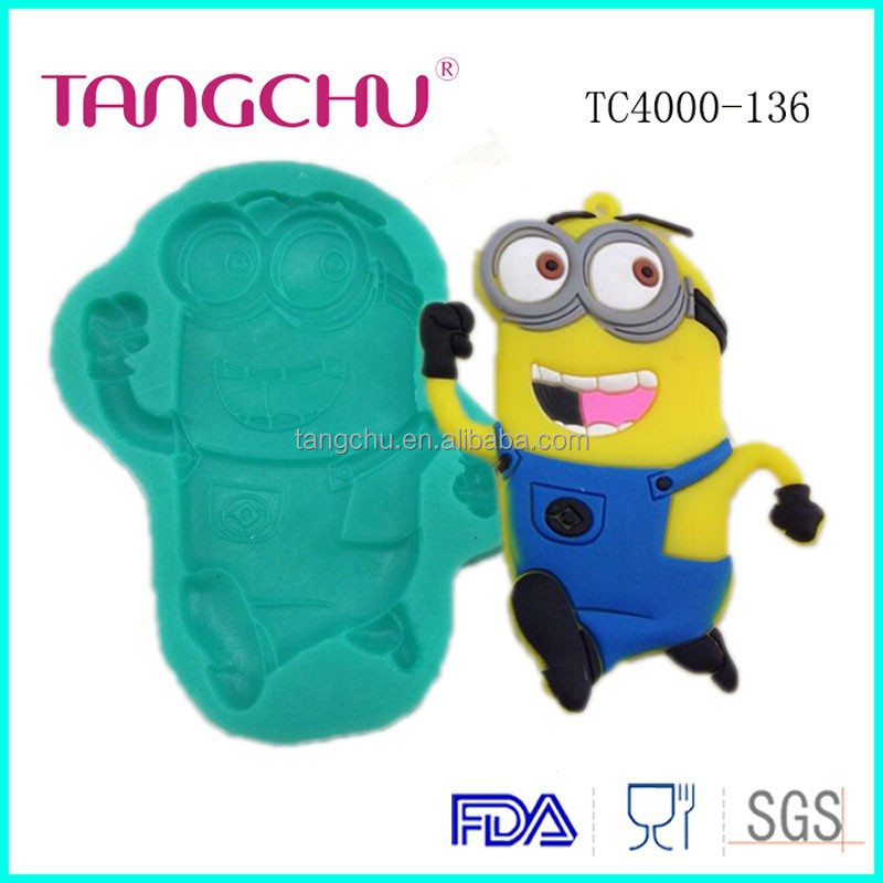 Single Minions Rush Shape Silicone Mold Low MOQ Baking Mold Cake Decoration Tools