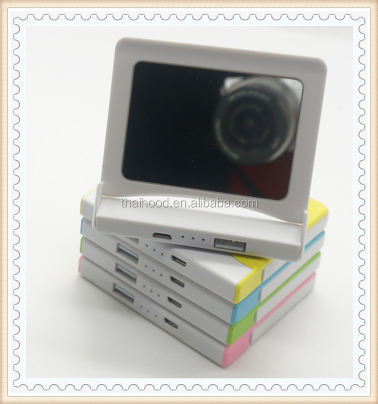 Hot! portable power bank with build-in mirror, goingpower power bank for Lady with CE FCC ROHS