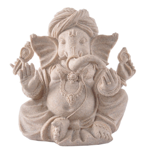 Factory Custom made home decoration gift poly resin fengshui gift sandstone Ganesha God