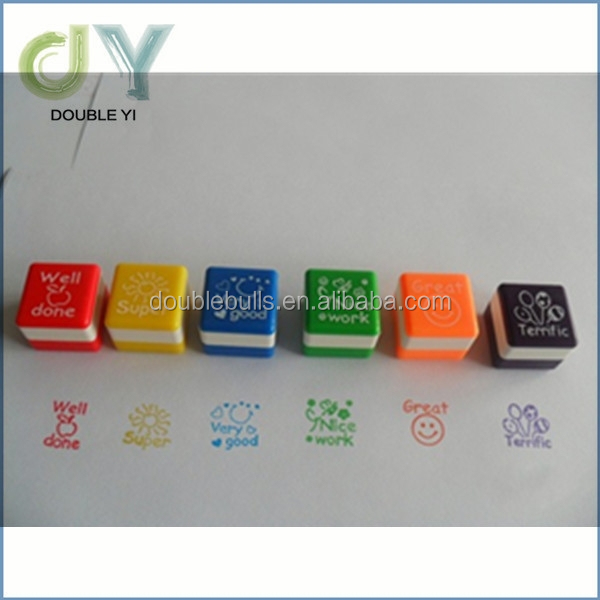 Hot sale New kids square ABS self inking toy stamp