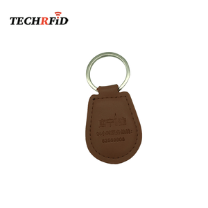 High Quality Key for Access Control LF EM4200 RFID Leather Keychain