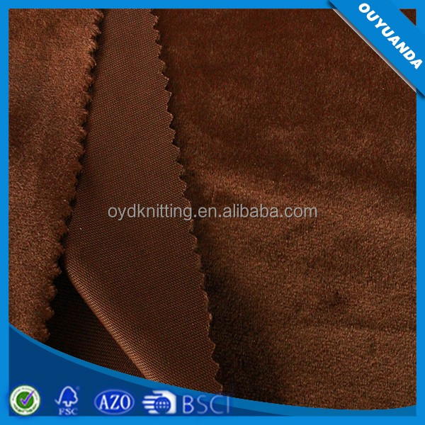 Factory Polyester More Smooth Italy Velvet Upholstery Fabric to Iran