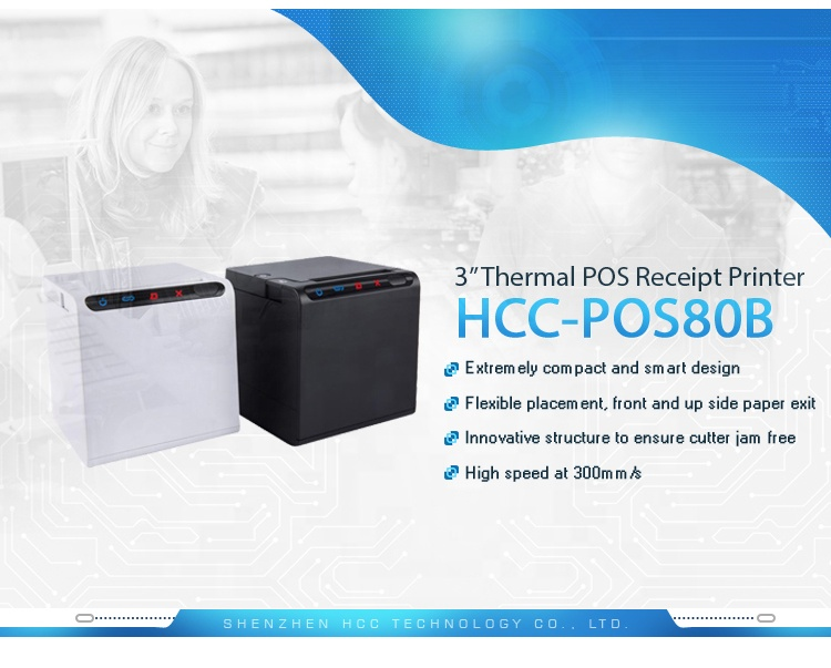 High Speed USB Serial Port 80MM Receipt Wifi Thermal POS Printer POS80B