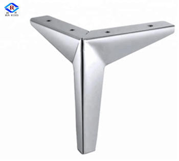Whole Strong Modern Chrome Iron Angled Metal Furniture Legs For Couch F69 2