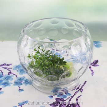 Round Bowl Shaped Glass Vase With Standbowl Shaped Glass Vasegiant