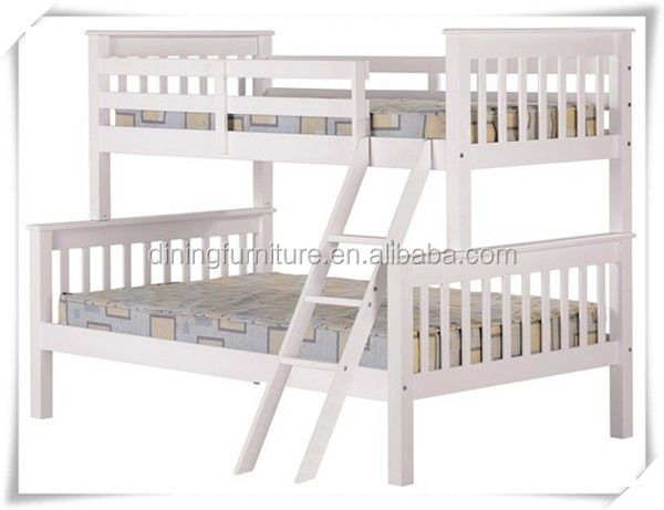 SD- 1351 hot sell triple white bunk bed / pine wood bunk bed pine wood funiture