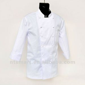 white chef uniform, hotel uniform, chef coat