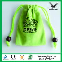 Drawstring velvet pouch bag with Company logo