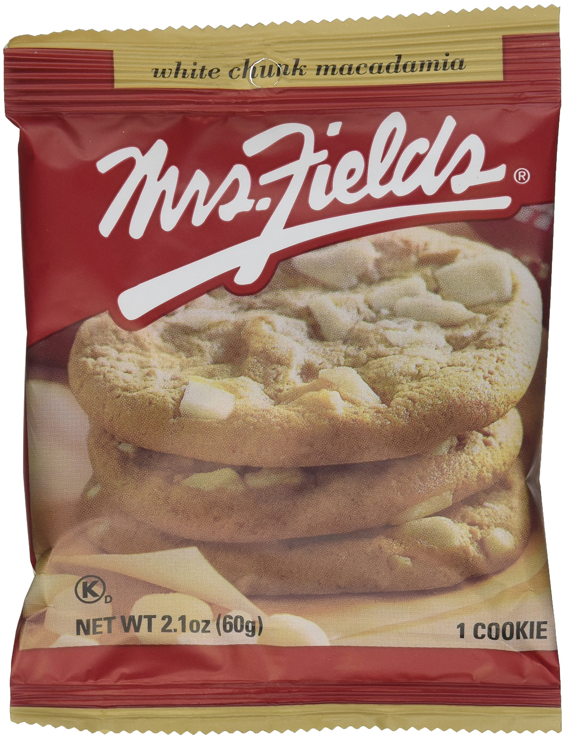 Mrs. Fields Jumbo Individually Wrapped White Chunk Macadamia Cookies (pack of 12)