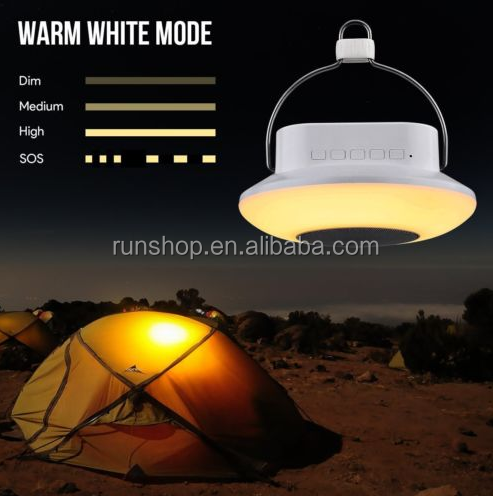 Camping Essential Bedside Night Light Dimmable Lantern Lamp Portable Bluetooth Speaker LED Touch Light