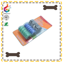 Blister card three rolls pack stripe printing dog waste bag