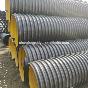 Steel Belt Reinforced SN12.5 HDPE Corrugation Vent Tube