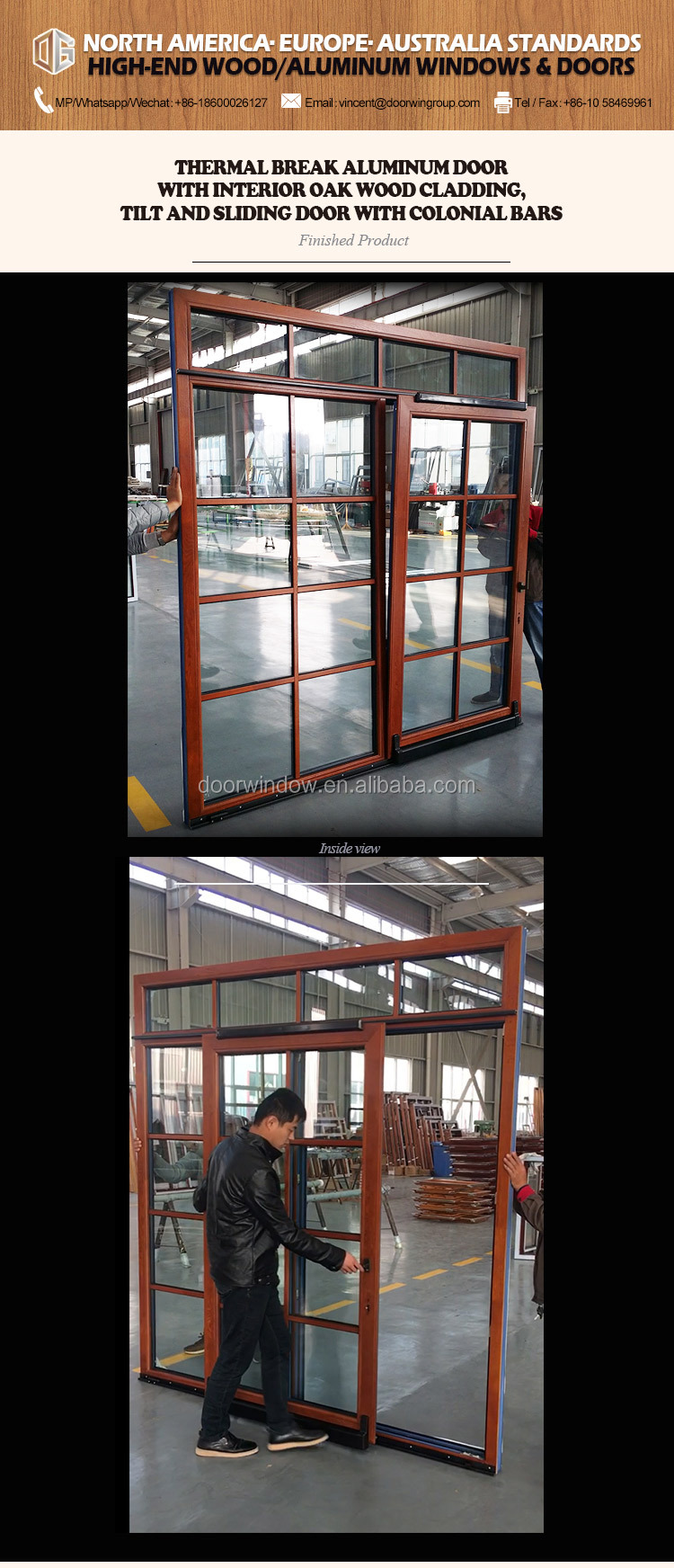 Tilt & slide door stained glass sliding doors stacking
